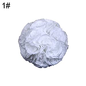 Dds5391 New 7inch Silk Flower Kissing Ball Artificial Rose Wedding Party Pomander Decoration - 15# 20