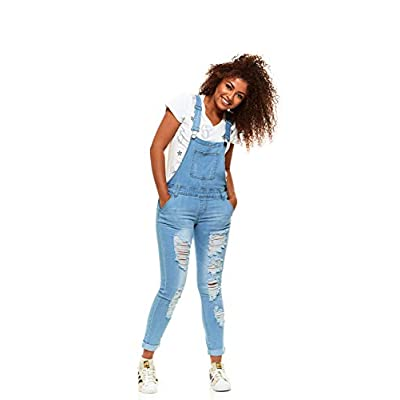 V.I.P.JEANS Casual Blue Jean Bib Strap Pocket Shortalls Overalls for Women Long or Short Slim Fit Junior Sizes Wash Choices: Clothing