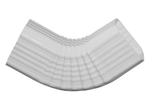 Type B Downspout Elbow, 3 Inch x 4 Inch, White (Gutter Elbow Rain)