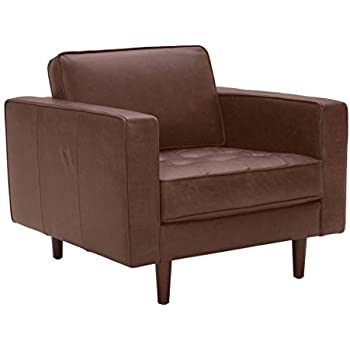 Marvelous Amazon Com Rivet Lawson Mid Century Modern Angled Leather Onthecornerstone Fun Painted Chair Ideas Images Onthecornerstoneorg
