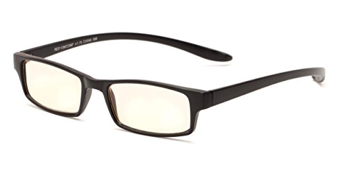 Readers.com The Fairbanks Computer Reader +1.75 Matte Black Unisex Rectangle Reading - Glasses Google.com
