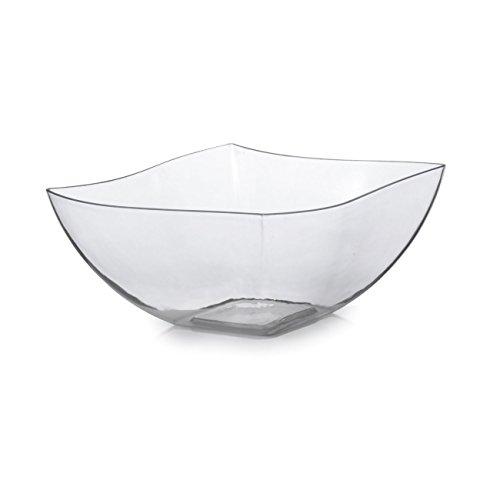 Fineline Settings 116-CL-X, 16 Oz. Clear Plastic Serving Bowls, Disposable Catering Soup Salad Dessert Bowls, 4-Piece (Crudite Set)