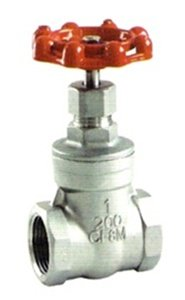 "1"" Stainless Steel (316) Gate Valve - 200WOG, FxF NPT from Dura Choice"