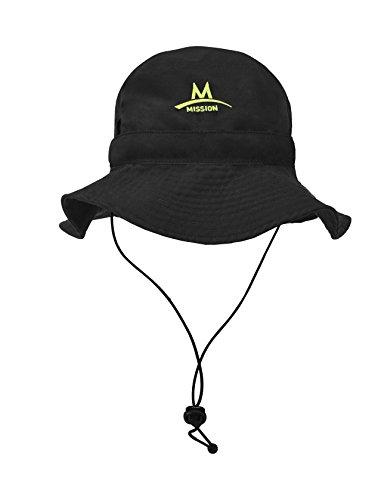 Mission Cooling Bucket Hat Black High Vis Green