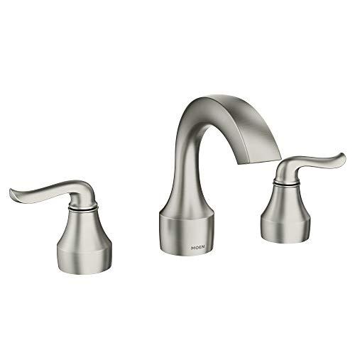 Hamden Collection - Moen 84302SRN Hamden Bathroom Faucet, Spot Resist Brushed Nickel