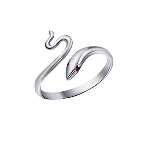 Ring Adjustable S925 Sterling Silver Ring and Serpentine Earring Jewelery Accessory for Women (Color : -, Size : -)