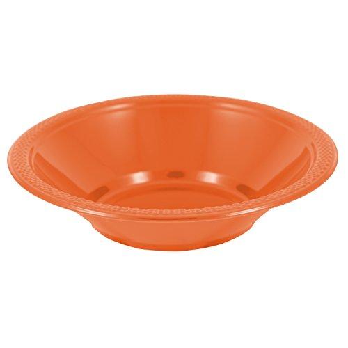 Small Orange Bowl (JAM Paper Disposable Plastic Bowls - Small - 12 oz (7