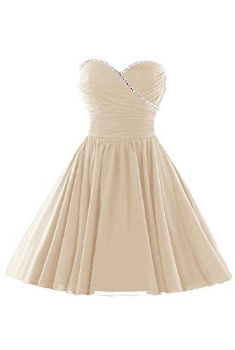 Sweet Homecoming Dress Chiffon Beaded Champagne Dasior Skirt Party Short 16 s Women 0HSWpqX8