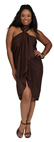 1-World-Sarongs-Womens-PLUS-Size-Asian-Floral-Swimsuit-Cover-Up-Sarong-in-Brown