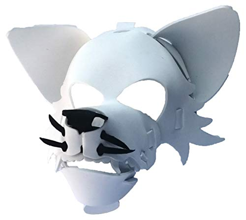 Wolf Mask with Elastic Great for Halloween, Sporting Events, Having Fun - One Size Fits Adults & Children - White ()