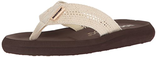 Rocket Dog Women's SPOTLIGHT2 Striped Crochet Cotton Flip-Flop, Natural, 7 Medium (Rocket Dog Zappos)