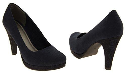 Marco Tozzi Mujer Zapatos de Tacón Alto Azul marino