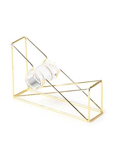 U Brands Desktop Tape Dispenser, Wire Metal, Gold