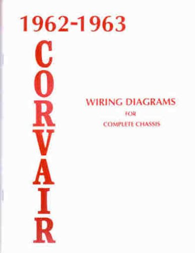 1962 1963 CHEVROLET CORVAIR COMPLETE SET OF FACTORY ELECTRICAL WIRING DIAGRAMS 12 SCHEMATICS GUIDE - 8 PAGES. 62 63 CHEVY ()