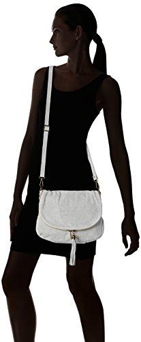 Chicca Borse 80057 - Bolsos bandolera Mujer Gris (Grigio)