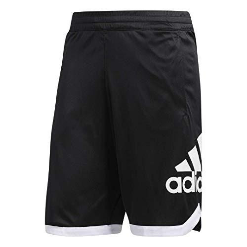 adidas Men's Badge of Sport Basketball Shorts, Black, Small