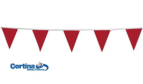 Red 60/' Cortina Safety Products 03-407 Pennant VinylDanger 60