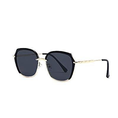 FeliciaJuan HD Lens 100% UV Protection Aviator Large Metal Mirrored Sunglasses