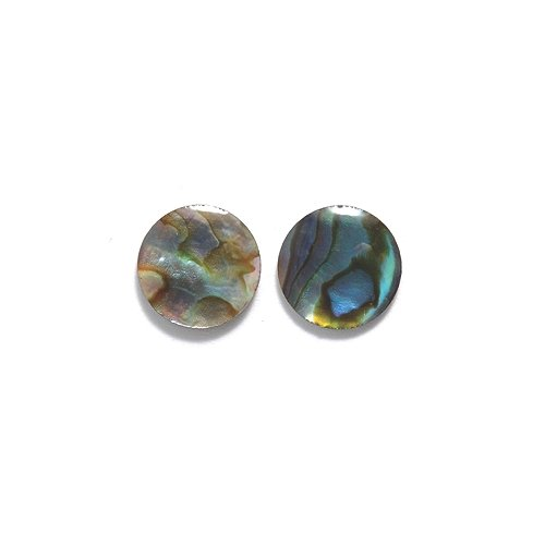 Shipwreck Beads Round Abalone Cabochon, Natural, 10-mm, 15-Pack