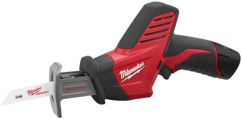 Milwaukee 2490-24 12-Volt Compact Drill, Hackzall Saw, Pipe Cutter, and Worklight Combo Kit