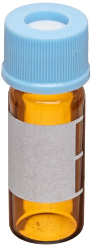 National Scientific Target 10-425 Assembled Vial Kit, Amber, 2ml Capacity (Pack of 100) by National Scientific