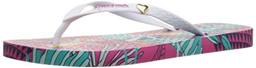 Ipanema Women's Amazonia Flip Flop, Pink/White, 9 M US