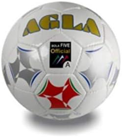 AGLA Bola Five 3.7 Bianco Adulto Pallone Unisex
