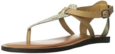 Dolce Vita Women's Fabia Dress Sandal,Natural Snake Leather,9.5 M US