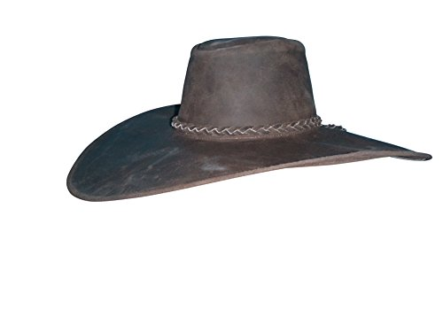 Sharpshooter Rendezvous Cavalier Swashbuckler Tea Party Brown Leather Cowboy Hat