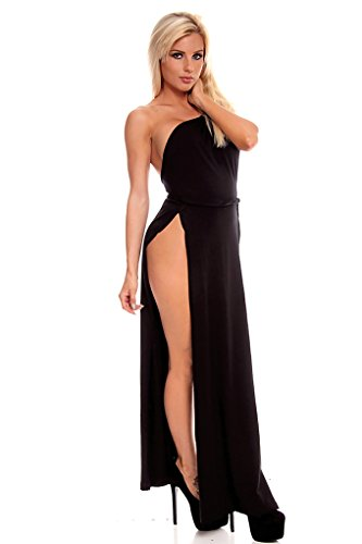 Lolli Couture Sexy High Slit Sleeveless One Shoulder Long