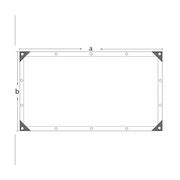 Giow - Telo protettivo per protezione solare da balcone, con asola antipolvere, 4 angoli, 12 misure (colore: nero… 3 spesavip