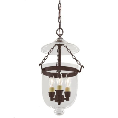 Small Bell Jar Pendant Lights - 8