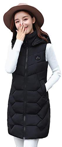 ただやる難破船測定Alhyla ダウンベスト レディース 冬 秋 ファッション 韓国風 ロングスベスト 中綿 ベスト フード付き 無地 スリム ベスト