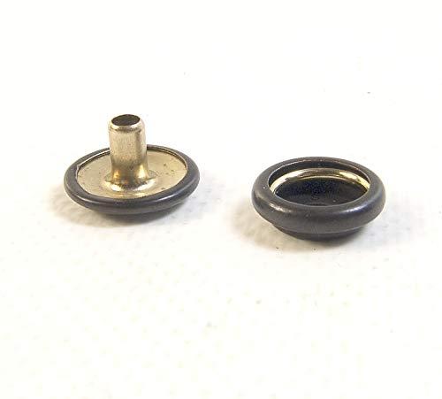 Snap Fastener's, Black Oxide-Brass, Matte Finish, Long Post Cap & Eyelet (100 Piece Cap & Socket Only)