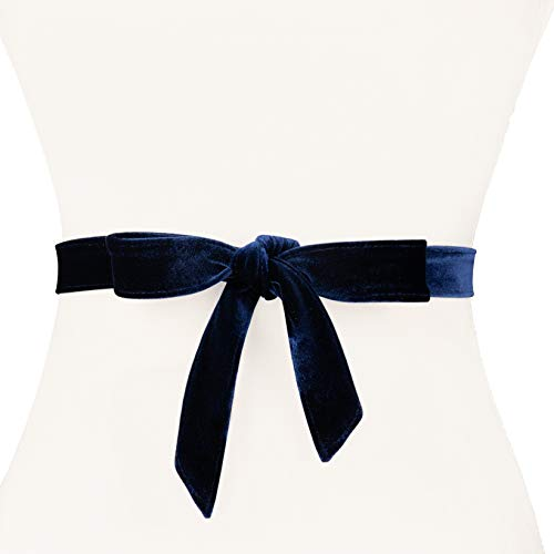 - Two 12 Fashion Women's Narrow Velvet Wrap Belt