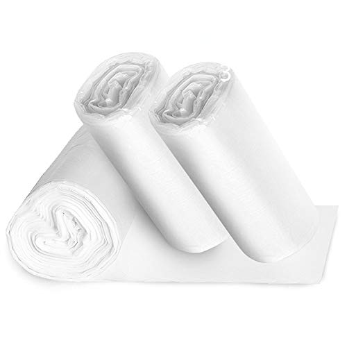 (Small Clear Bathroom Trash Bags - 150, 1.2 Gallon Garbage Can Liners - Perfect for High End Restroom Waste Baskets)