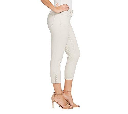 Creamstone Snap Mezclilla Skinny Bandolino Crop Jean Hem Para Lisbeth Curvy Mujer Ixzwq8Z0z