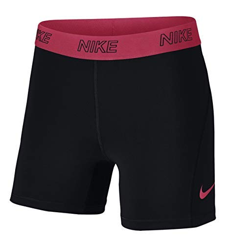 Nike Women's Dri-Fit Victory Tight Fit Compression 5'' Shorts (SMALL, BLACK/RACER PINK) by Nike (Image #1)
