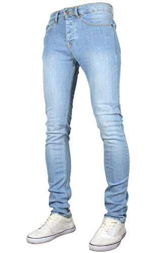 526Jeanswear Men's Raptor Stretch Super Skinny Fit Jeans (40W x 32L, Lightwash) (Best Super Skinny Jeans For Guys)