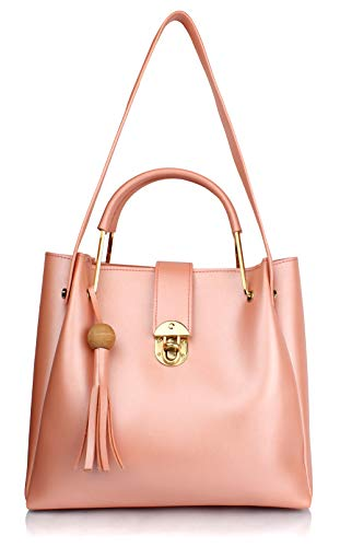 Mammon Women's Stylish Handbags Combo (4L-bib-Bpink)