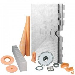 Kit Tray Tile (Schluter Kerdi 32-Inch X 60-Inch Shower Kit with Center Stainless Steel PVC Drain)