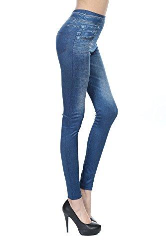 Impronta Blue Denim Jeans I Finta Elasticizzati Donne Scappando Addosso Lava Si Le Pantaloni wtnvYx7qC