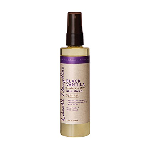 Sheen Instant Conditioner - Carol's Daughter Black Vanilla Hair Sheen, 4.3 fl oz (Packaging May Vary)