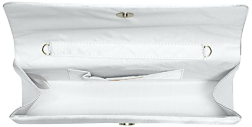 with Additional Silver Satin Berydale Berydale Women's Clutch Women's Silver Chain RXq4SR