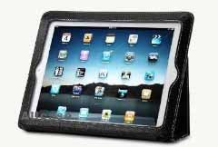 "Acase iPad 2 / iPad 3 ""The New iPad"" High Quality Premium Slim Leather Case Folio with built-in Stand for Apple New iPad / iPad 2 / iPad 3 - Black"