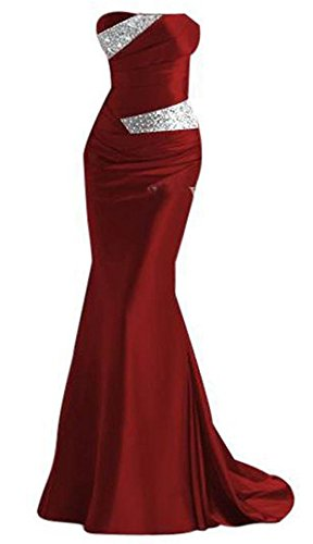 Vino Plaer Para Rojo Mujer Vestido wCSCqAR