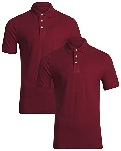 French Toast Young Men's Uniform Short Sleeve Pique Polo Shirt (2-Pack)