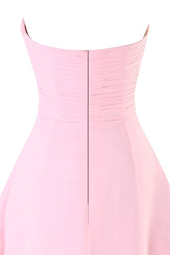 Dress Women's Prom Knotted Front Ruched Daffodil Homecoming Chiffon Dasior Strapless POqH8