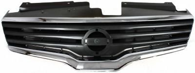 Evan-Fischer EVA17772045604 Grille Assembly Grill Plastic shell and insert Dark gray With chrome molding (2007 Nissan Altima Chrome Grill compare prices)