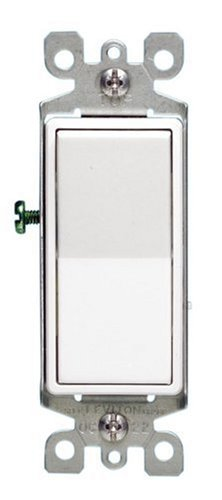 Leviton 5611-2WS 15A Decora Sole Pole Illuminated Switch with Ground, White